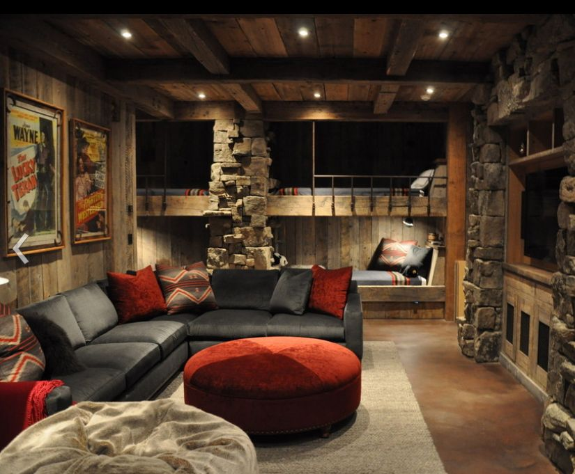 Modern Lodge Style Bunk Room Great Example Rustic