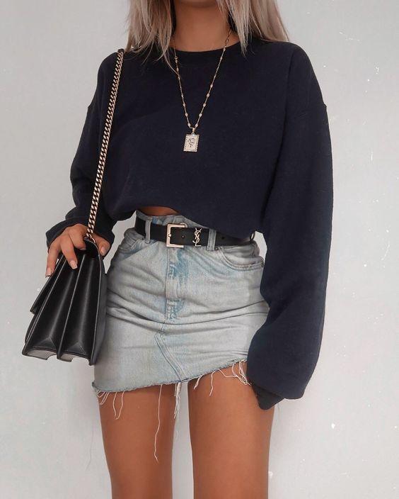 Autumn Women's Long Sleeve Top Round Neck Cotton Solid Color Pullover Ladies Crop Top Sweatshirt Tee Tops 2019 New