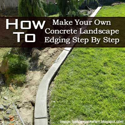 Diy make concrete landscape edging step by step for Cheap diy garden edging