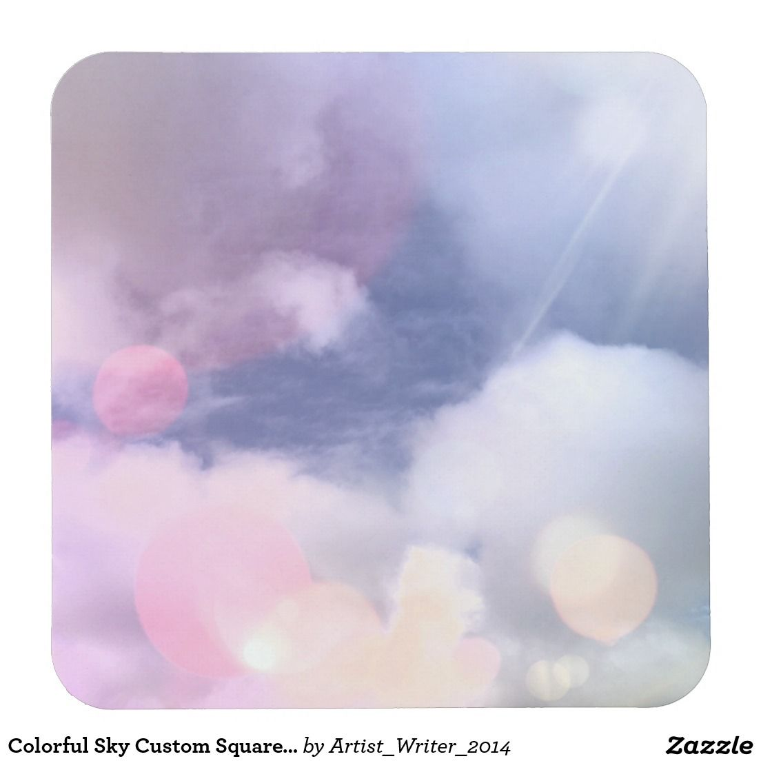 Colorful Sky Custom Square Coasters Square Paper Coaster