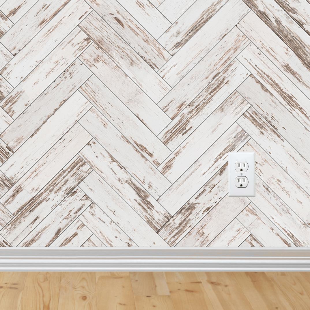 Herringbone Wallpaper Self Adhesive Herringbone Wallpaper Farmhouse Wallpaper Distressed Wood Wallpaper