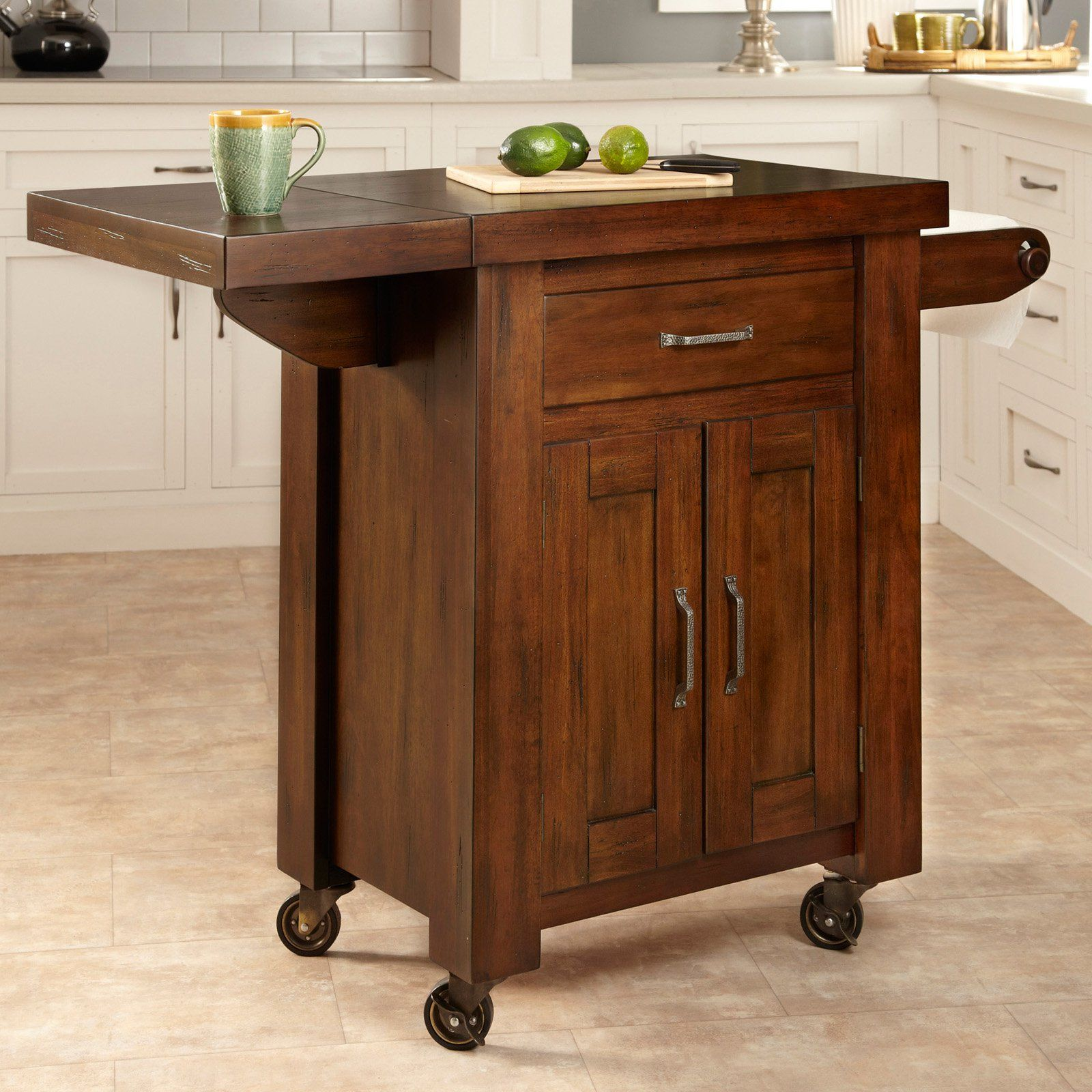 Have To Have Ithome Styles Cabin Creek 1 Drawer Drop Leaf Alluring Small Kitchen Island On Wheels Review