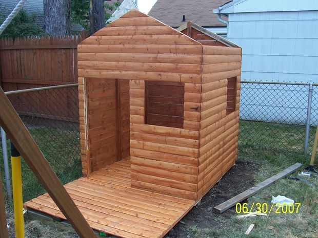 Build A Log Cabin Playhouse For Under 300 For The Home