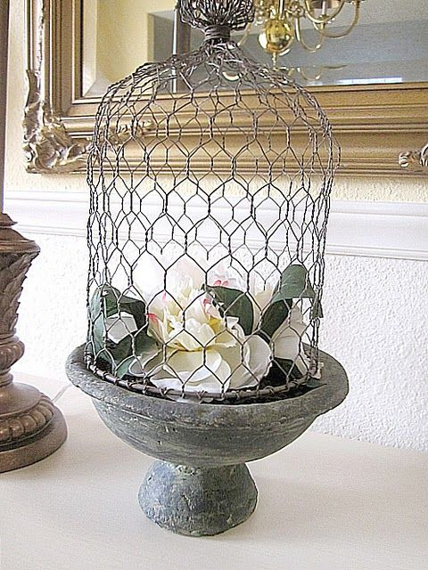 love things made with chicken wire! | Decorating I love | Pinterest ...