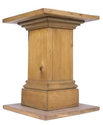 Diy Wood Pedestal Ehow Wood Pedestal Wood Diy Diy Wood Projects