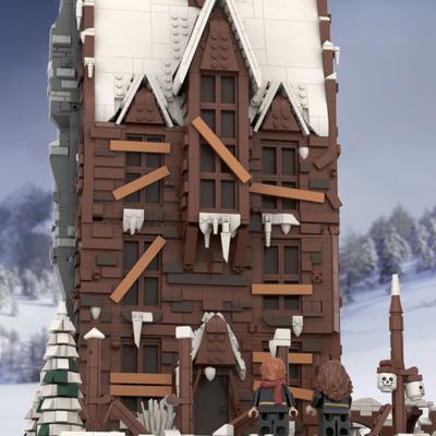 Lego Ideas Recreating A Magical Harry Potter Holiday Scene The Shrieking Shack Lego Harry Potter Moc Lego Hogwarts Harry Potter Lego Sets