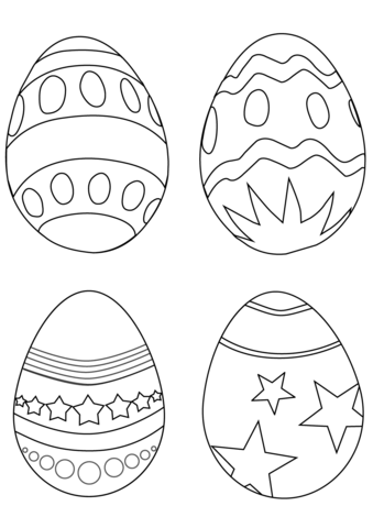 Simple Easter Eggs coloring page from Easter Eggs category
