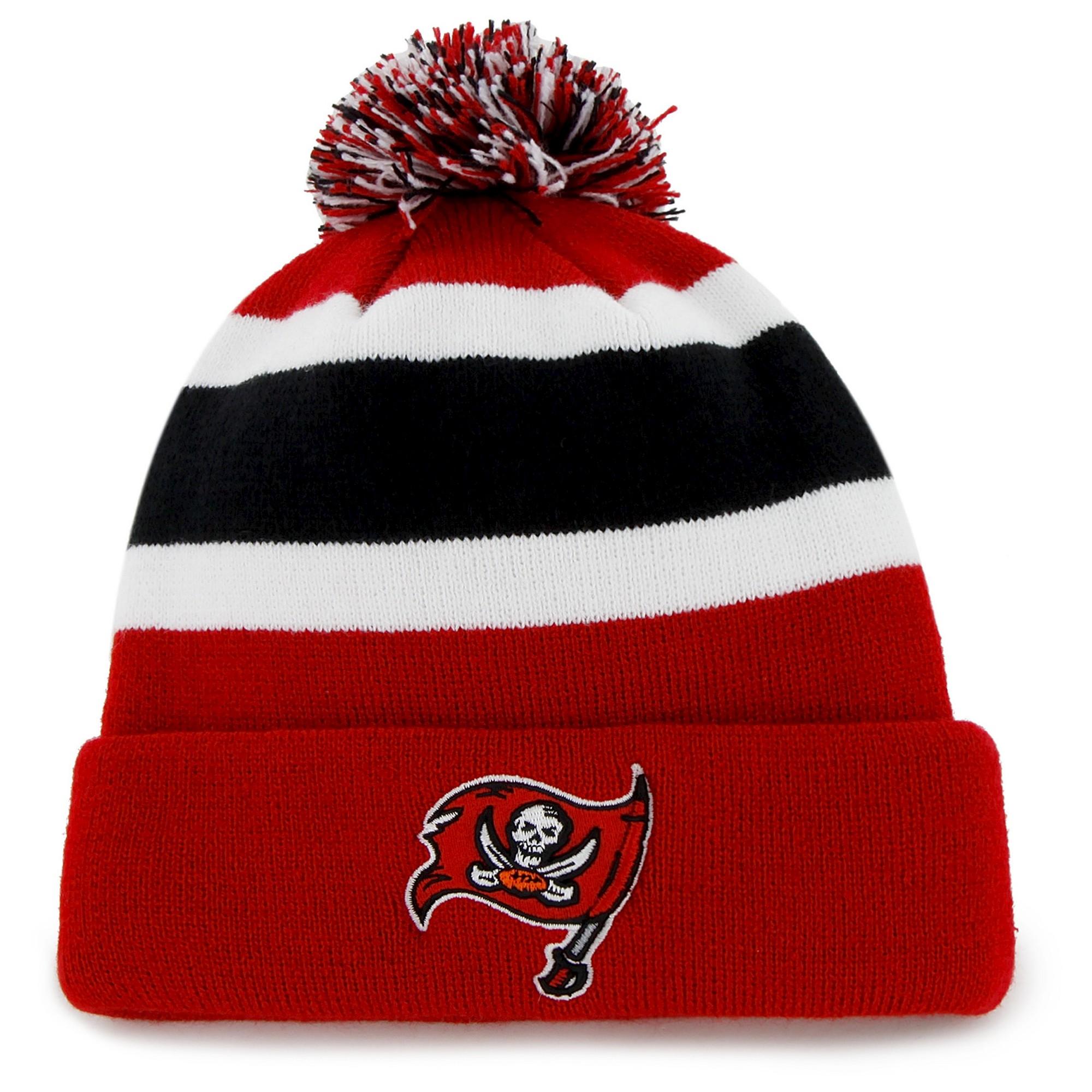 Tampa Bay Buccaneers Fan Favorite Breakaway Beanie With Pom Kids Unisex Knit Beanie Hat Knit Beanie