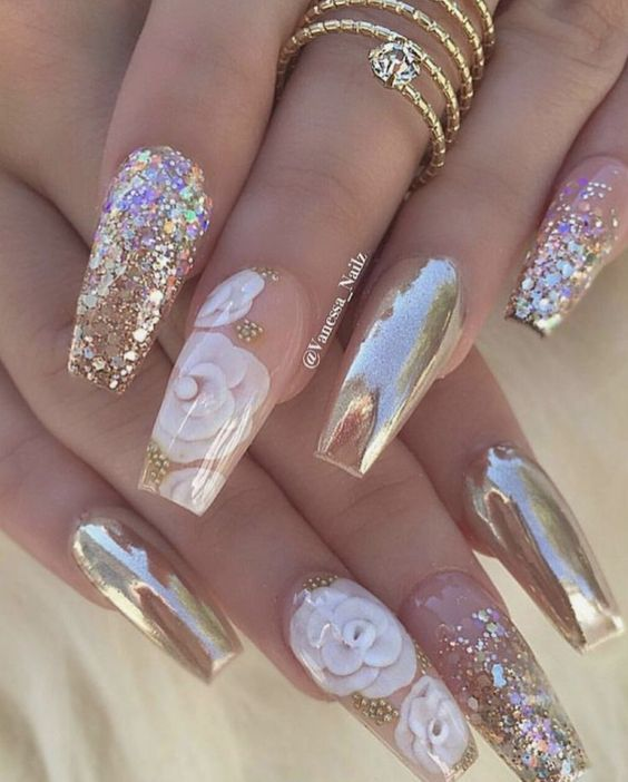 80 Trendy 3d Nail Art Designs You Will Love 2019 Glam Nails Stylish Nails Coffin Nails Long