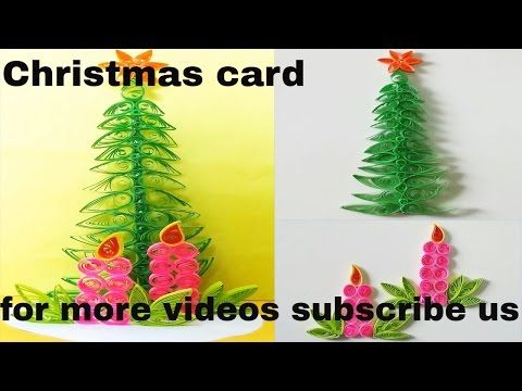 Paper Quilling how to make a beautiful Christmas Tree Greeting Card