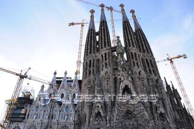 バルセロナ サグラダ ファミリアの写真 イラスト素材 Xf ペイレスイメージズ サグラダファミリア 風景 バルセロナ