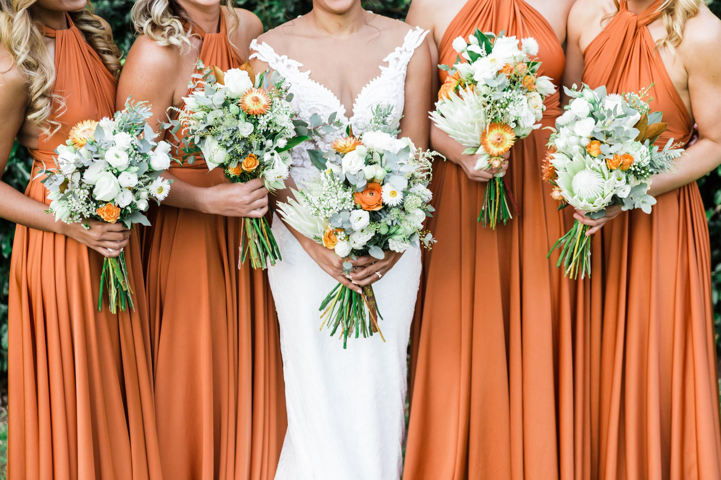 Fall Bridesmaids Dresses Burnt Orange Signature Multiway Gowns By Goddess By Nature Weddi Fall Bridesmaid Dresses Orange Bridesmaid Dresses Fall Bridesmaids