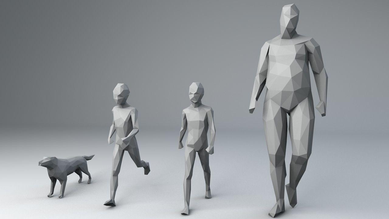 25 lowpoly characters bundle 3d model obj 3ds fbx c4d dae 11   Low