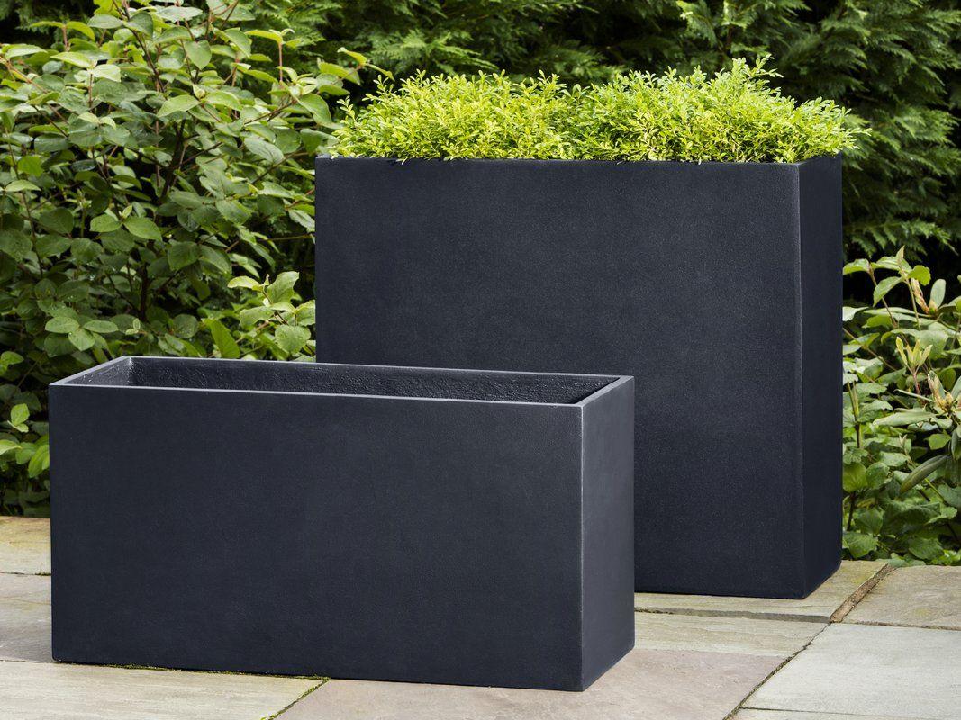 Pennyfield Modular 7 Fiberglass Planter Box Rectangular Planters Outdoor Planters Modern Landscaping