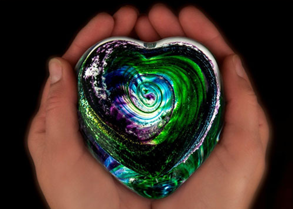 Hand Blown Glass With Ashes Of Loved One Might Do For Mom