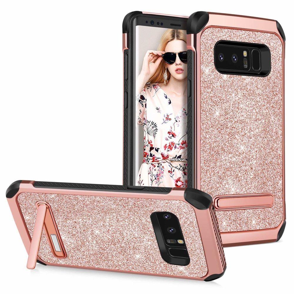 best cheap 3e8a3 20847 Galaxy Note 8 Case Samsung Note 8 Case Kickstand Glitter Slim Hybrid ...
