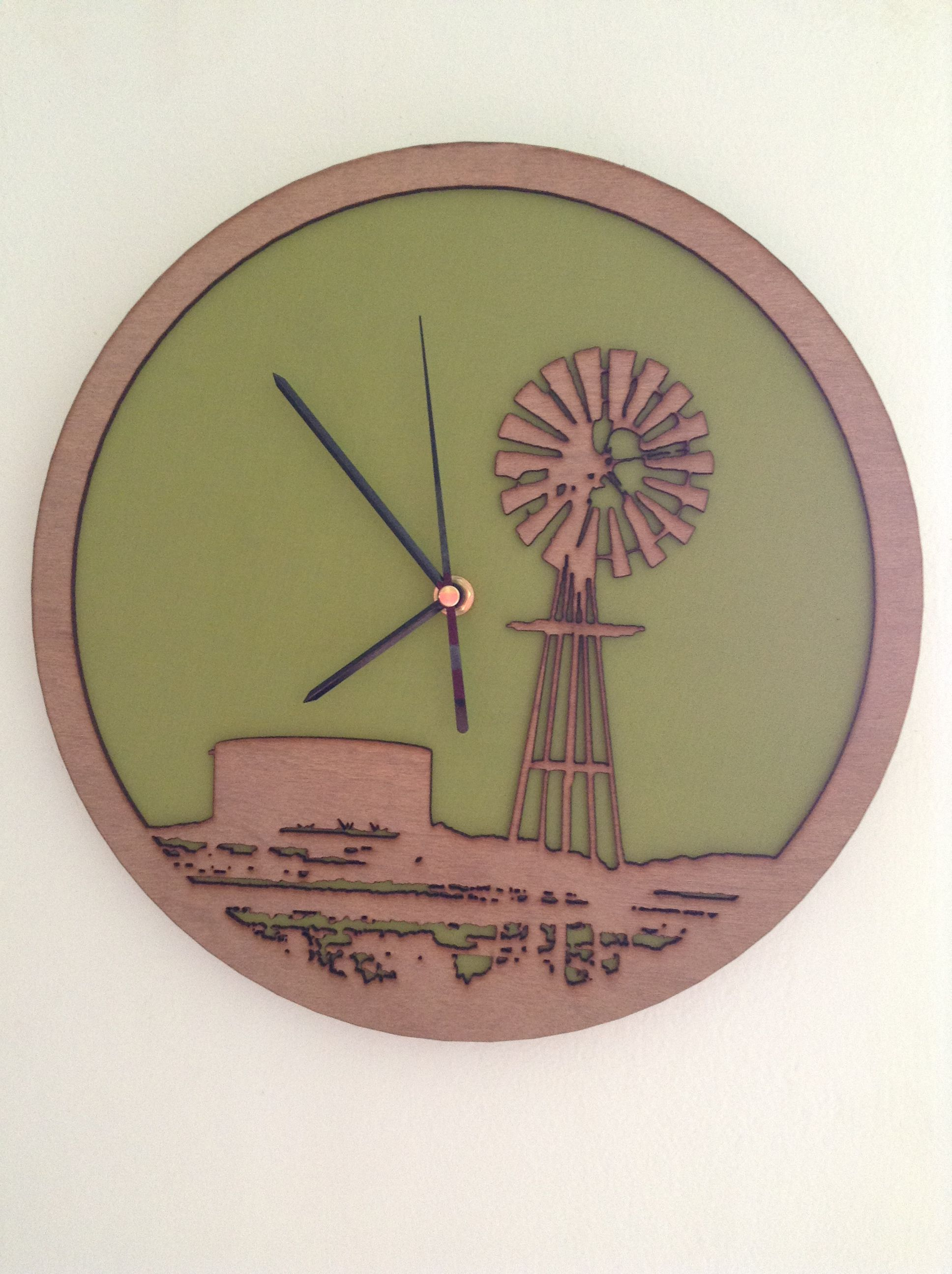 Whats Cutting Windmill clock laser cut clock What39s