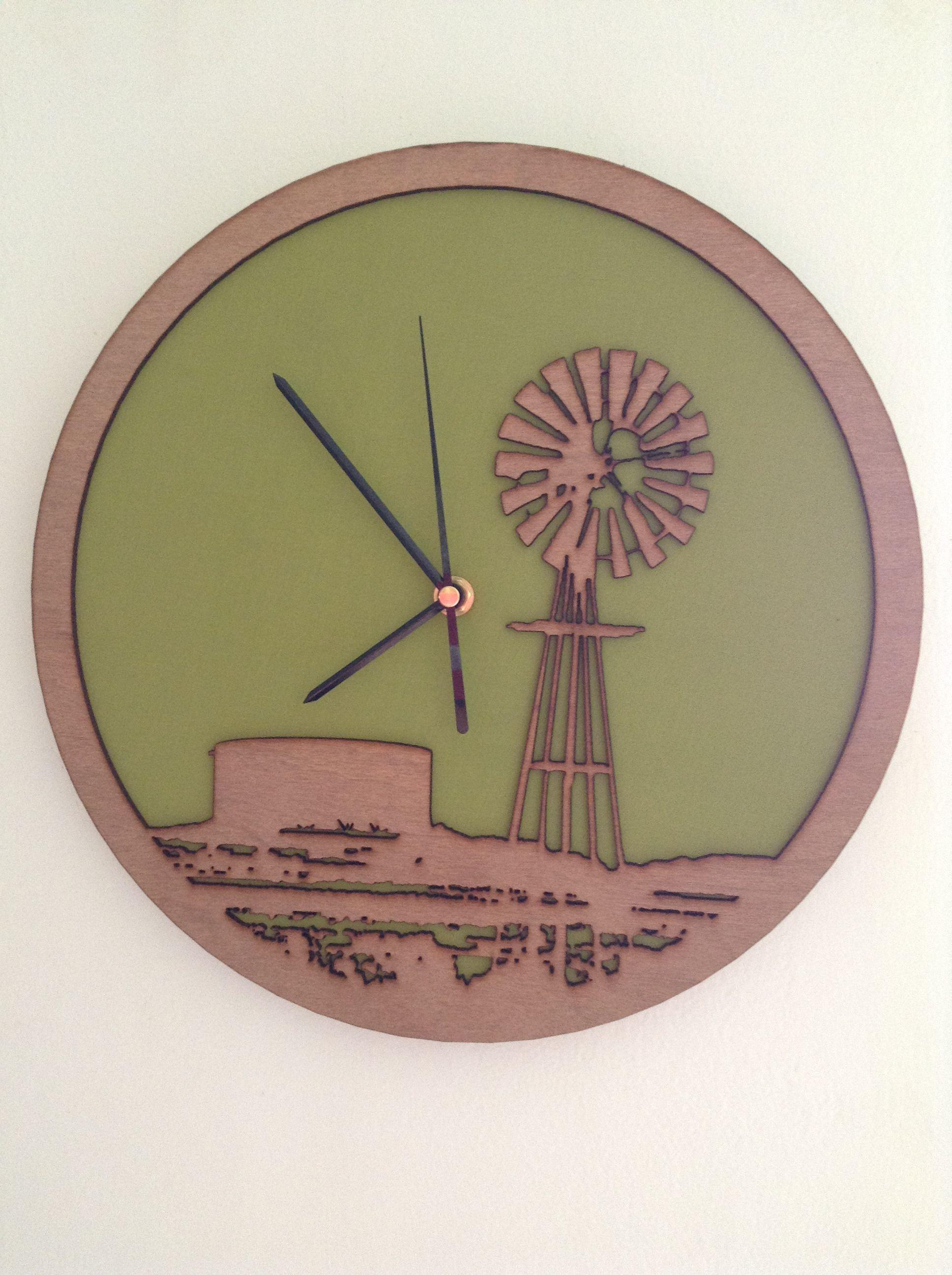 Whats Cutting Windmill Clock Laser Cut Clock What S