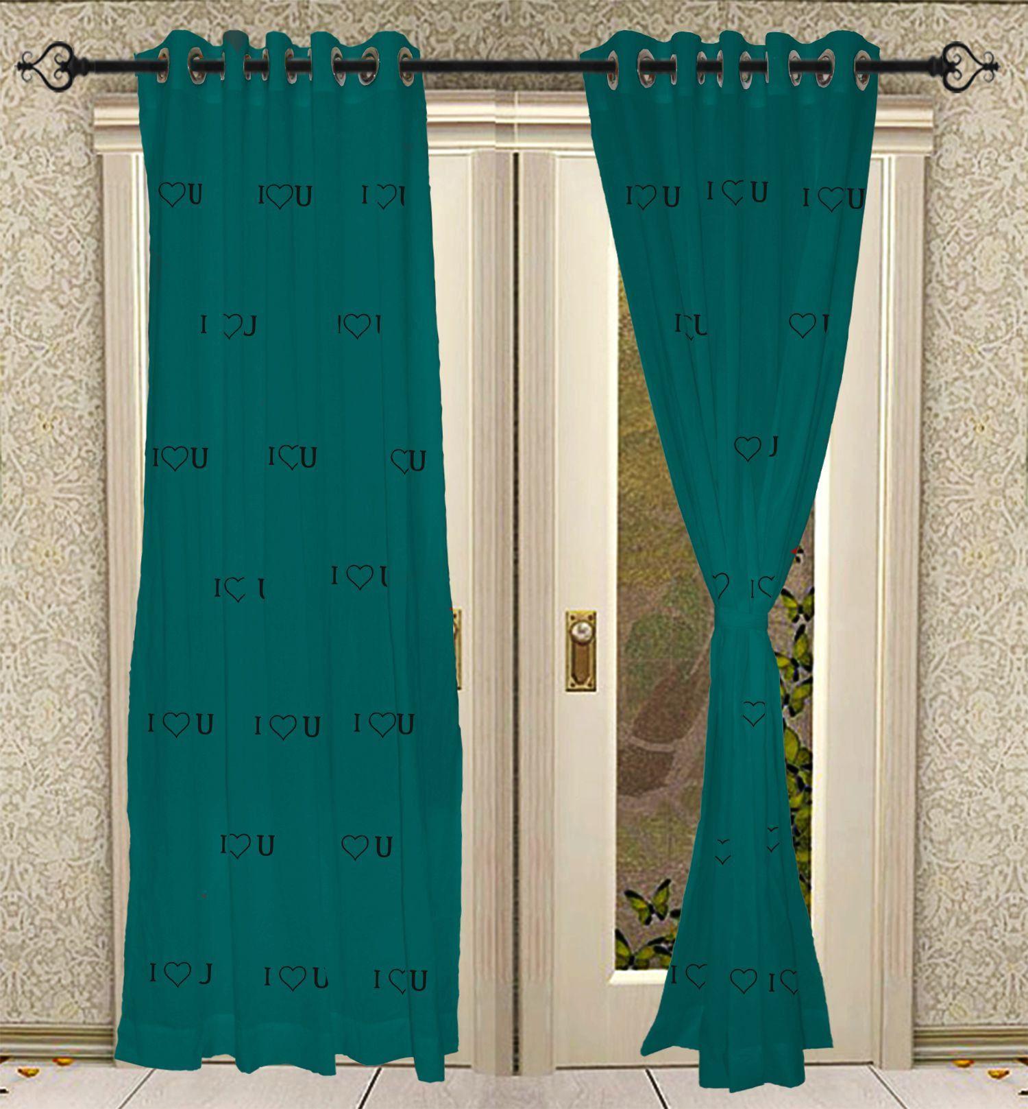 cotton curtain, window panels, Eyelet Hand Block Printed
