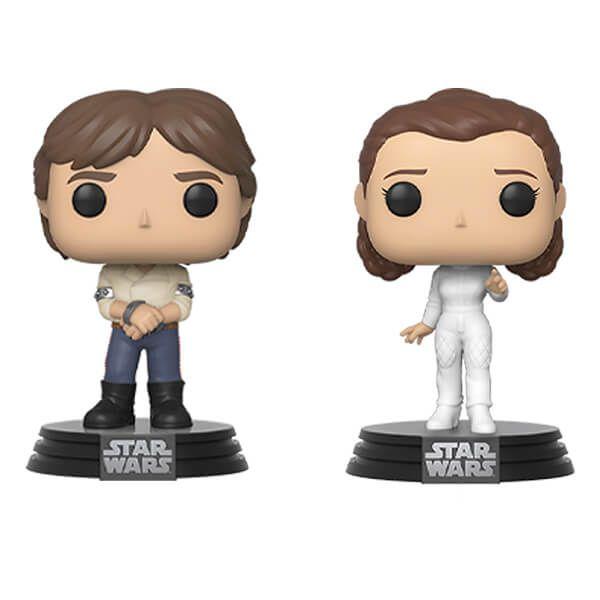 Star Wars Empire Strikes Back Han And Leia Funko Pop Vinyl 2 Pack