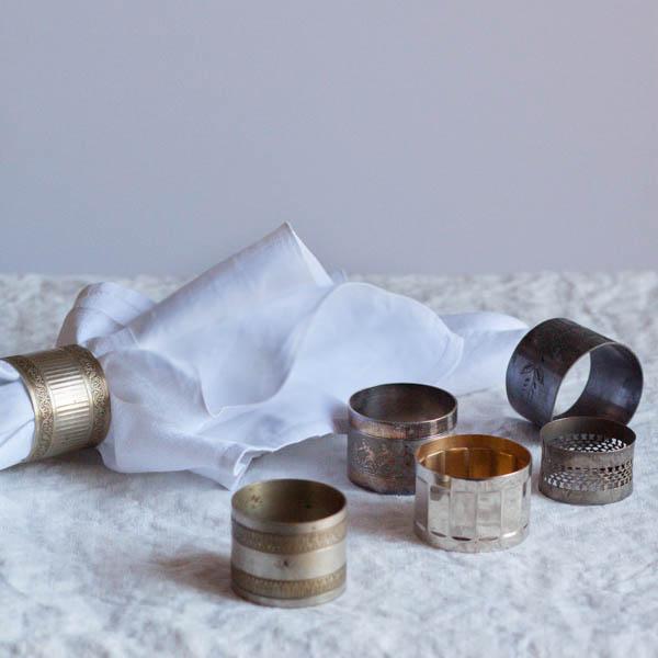 Vintage Silver Napkin Ring Set of 4 #napkin-ring #Napkin-Rings #silver-napkin-ring