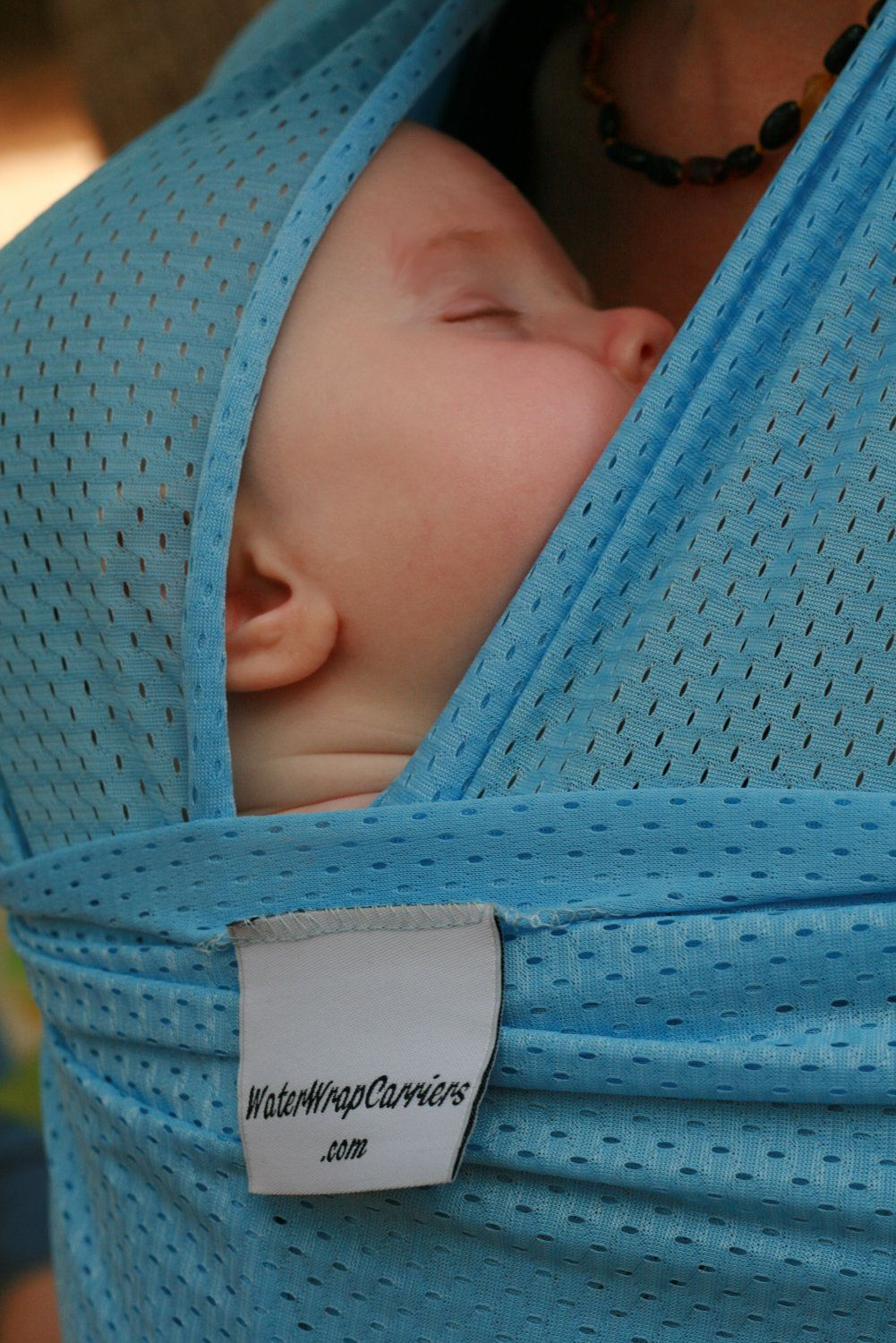 usa made beachfront baby wrap carrier safe water babywearing at usa made beachfront baby wrap carrier safe water babywearing at the beach pool water park or in the shower sky blue mesh