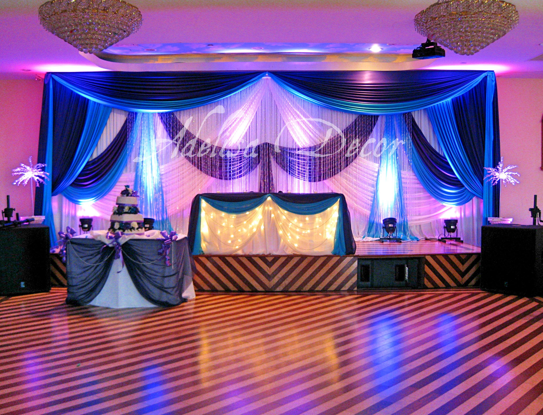 Wedding Reception Backdrop Lighting Sweetheart Table Decor Royal