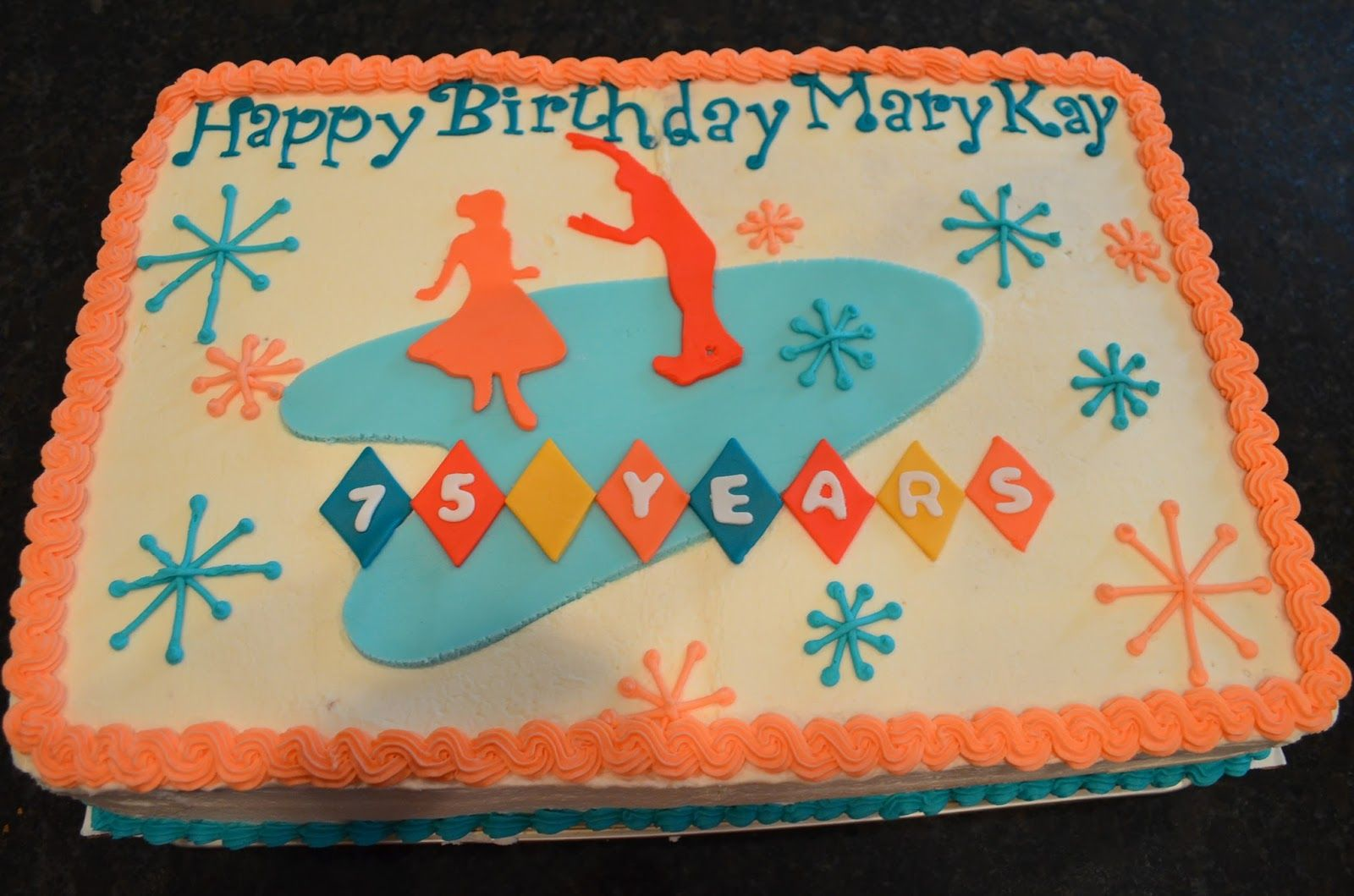 Cake Mama: Mary Kay's 75th Birthday Sock Hop