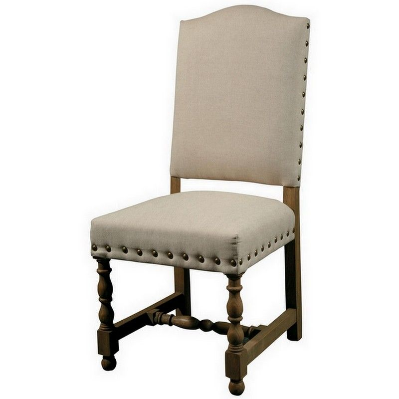 Dining Room Chair Fabric Ideas: Spanish Linen Upholstered Dining Chair In 2019