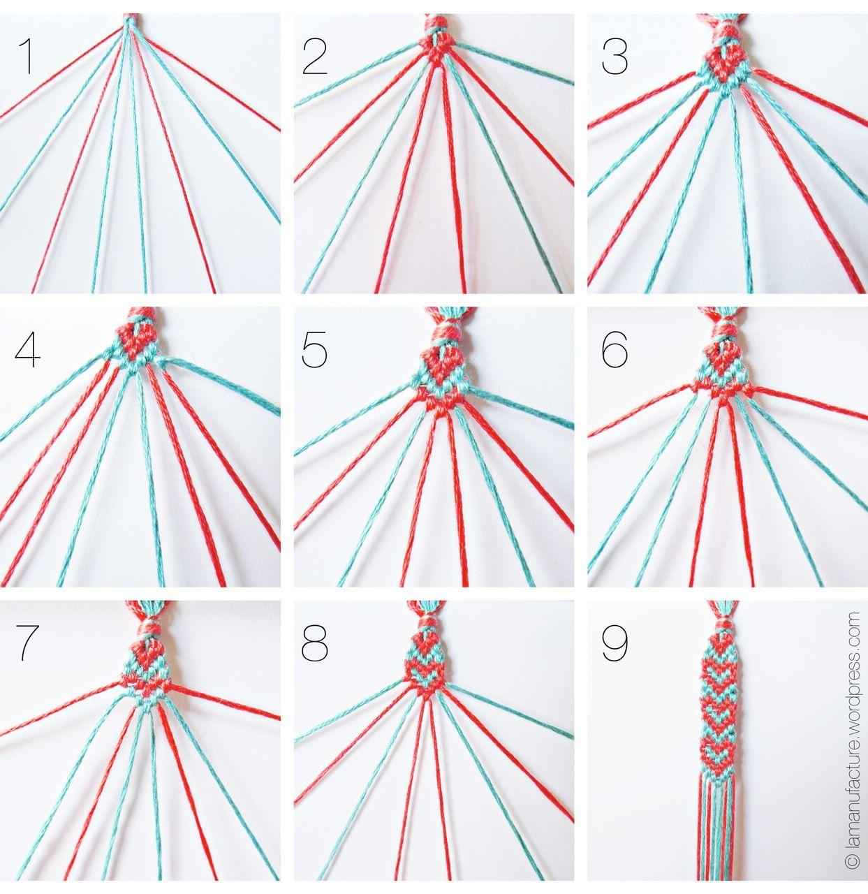 spread the love: heart pattern friendship bracelets