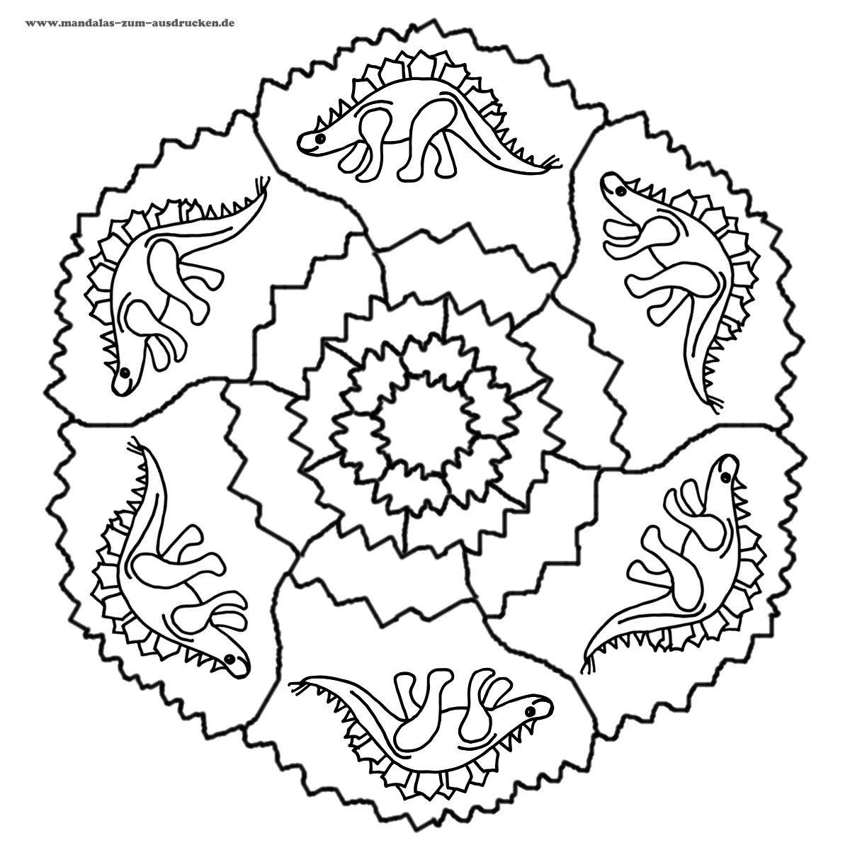 Mandalas mandalas para ni os colorear dibujos para - Mandala dinosaure ...