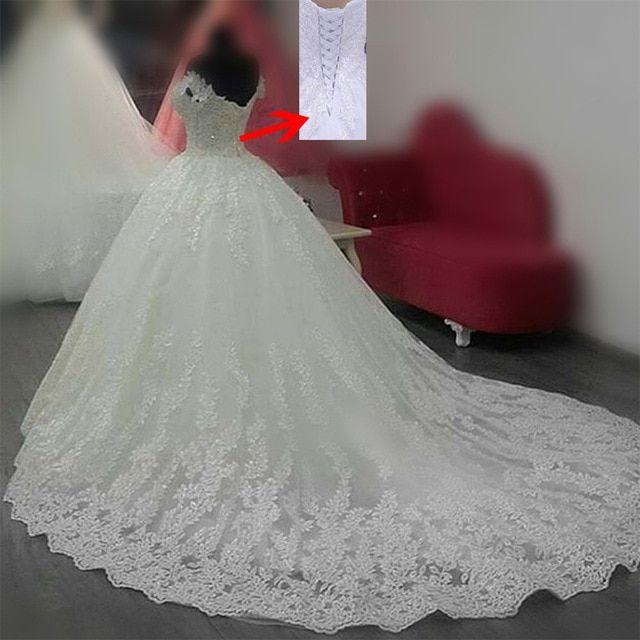 Vestido De Noiva 2018 Princess Wedding Dress Ball Gown Off: MN055 Vestido De Noiva Luxury Princess Ball Gown Wedding