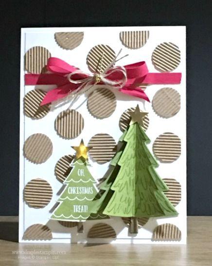 como hacer tarjetas de navidad a mano navidad Pinterest Hacer