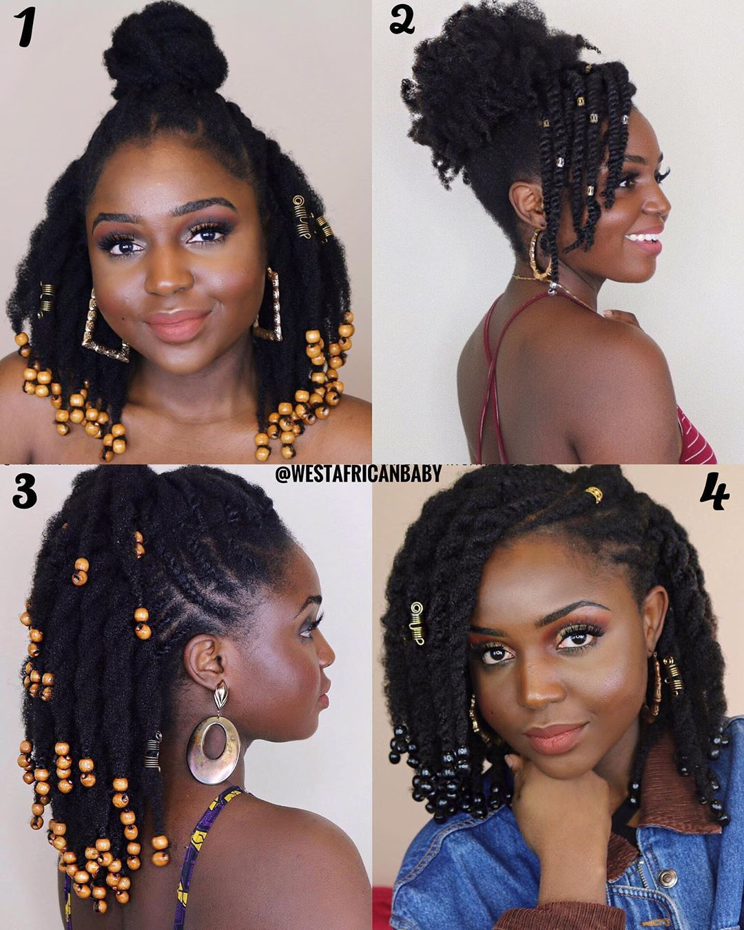 Miss Wood On Instagram My Favorite Summer Hairstyles Which One Do You Like Pick A Summer Hairstyles Natural Hair Styles Braids For Black Hair
