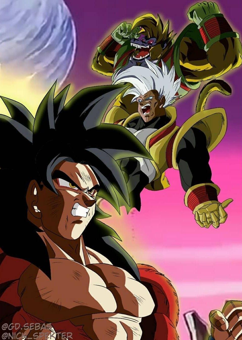 Goku Super Saiyan 4 Vs Baby Ozaru Dragon Ball Z Dragon Ball Super Goku Anime Dad