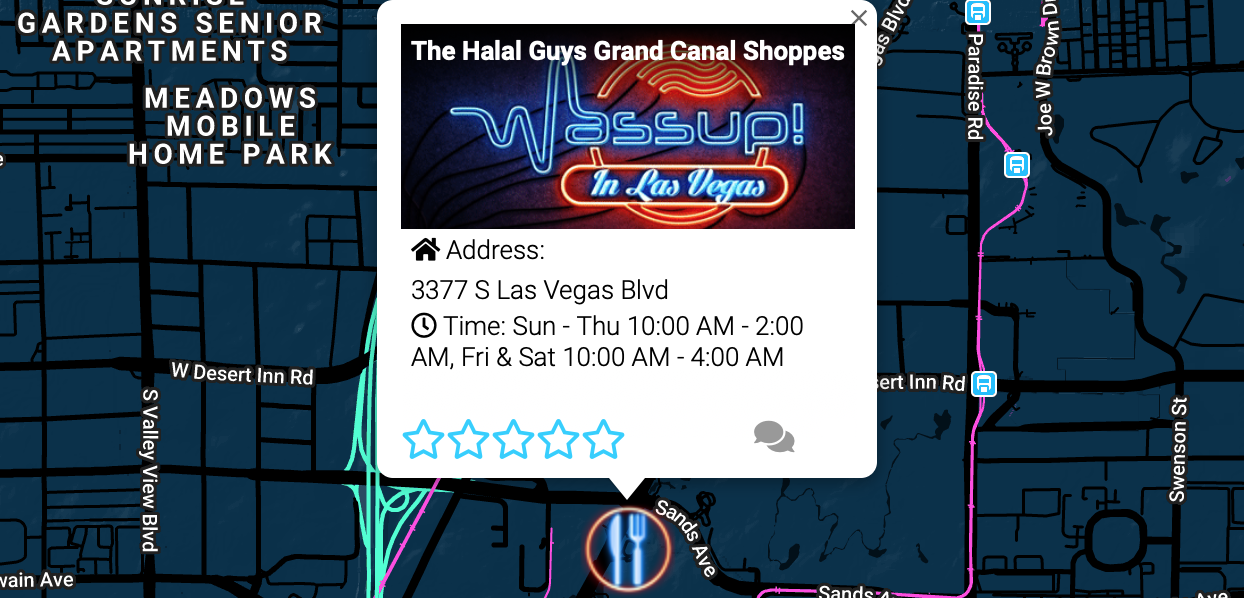 The Halal Guys Grand Canal Shoppes 3377 S Las Vegas