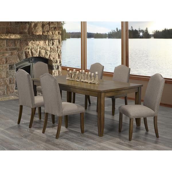 Shop Our Solid Pine Wood Walnut Finished Dining Table With 6 Custom Dining Room Sets Solid Wood Inspiration