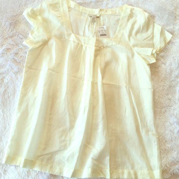 J.CREW Short Sleeve Shirt Gorgeous J.CREW Short Sleeve Shirt. 43% silk. NWT! J. Crew Tops