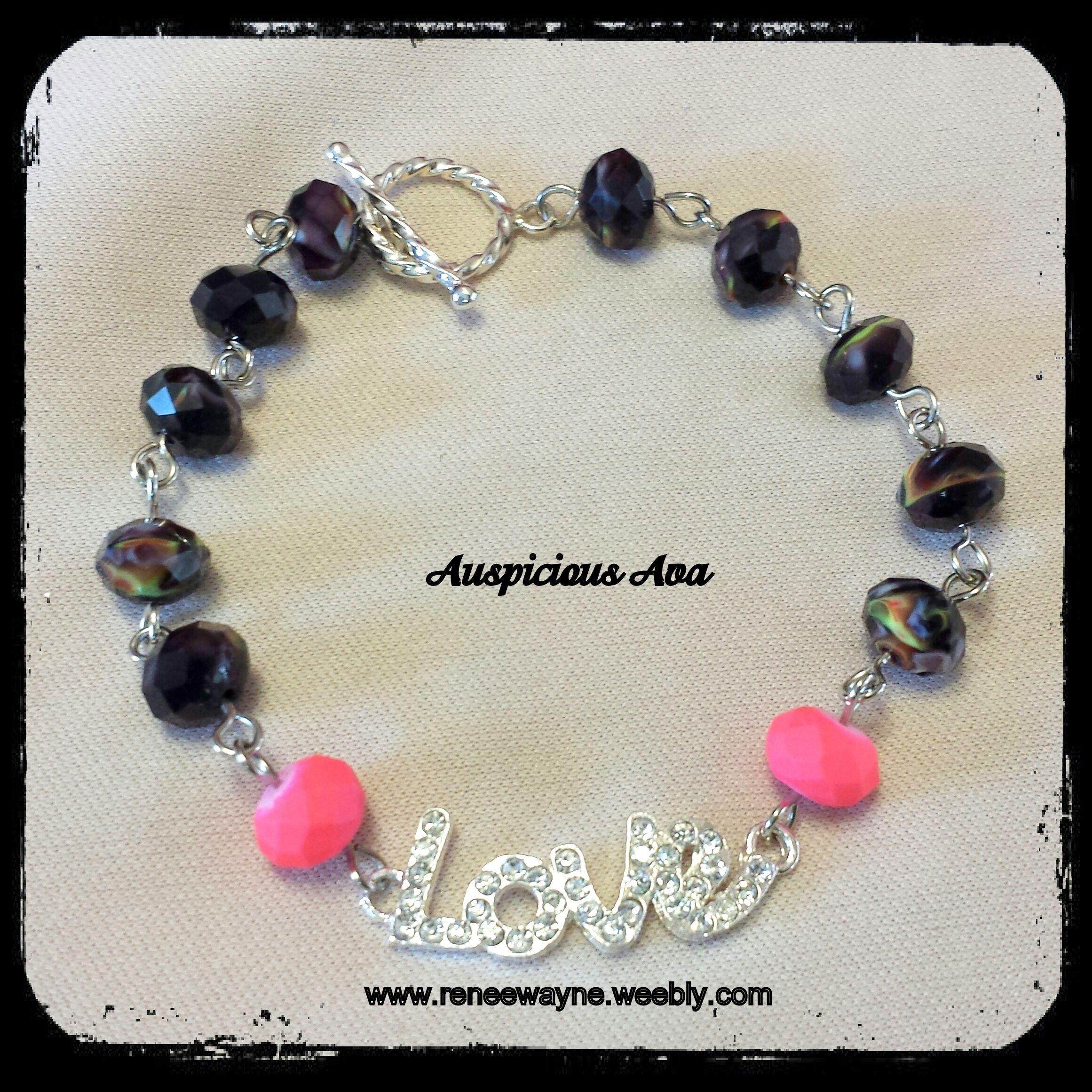 """""""Love"""" bracelet www.reneewayne.weebly.com"""