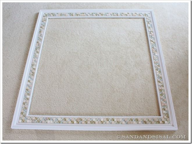 Tile Framed Bathroom Mirror: How To Decorate A Mirror With Tile