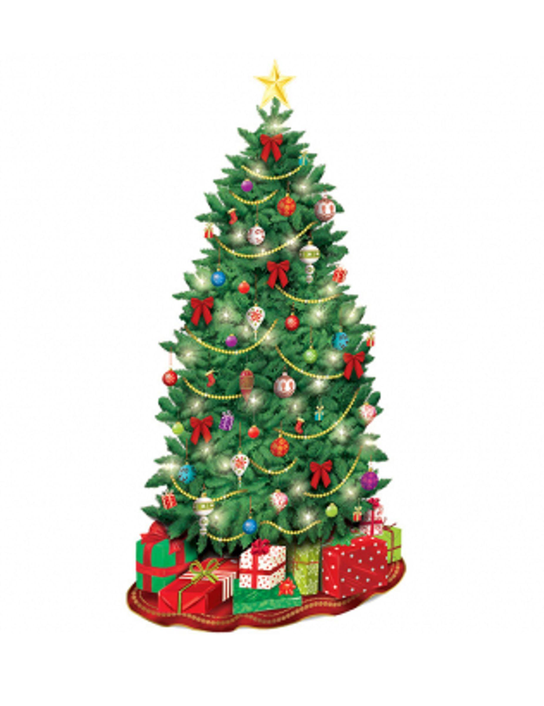 Decoraci N Mural Cart N Rbol De Navidad Esta Decoraci
