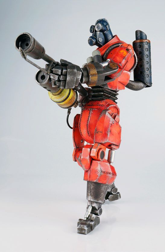 Team Fortress 2 figurine Red Robot Pyro threeA Toys | My Toy