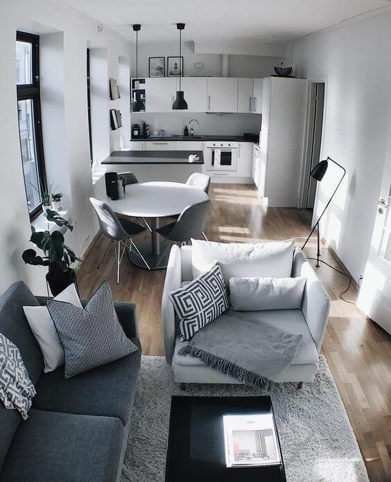 Decoração Para Casas Pequenas | +100 Ideias Para a Sua Casa - FOTOS e DICAS - GosteiSalvei #casaspequeñas