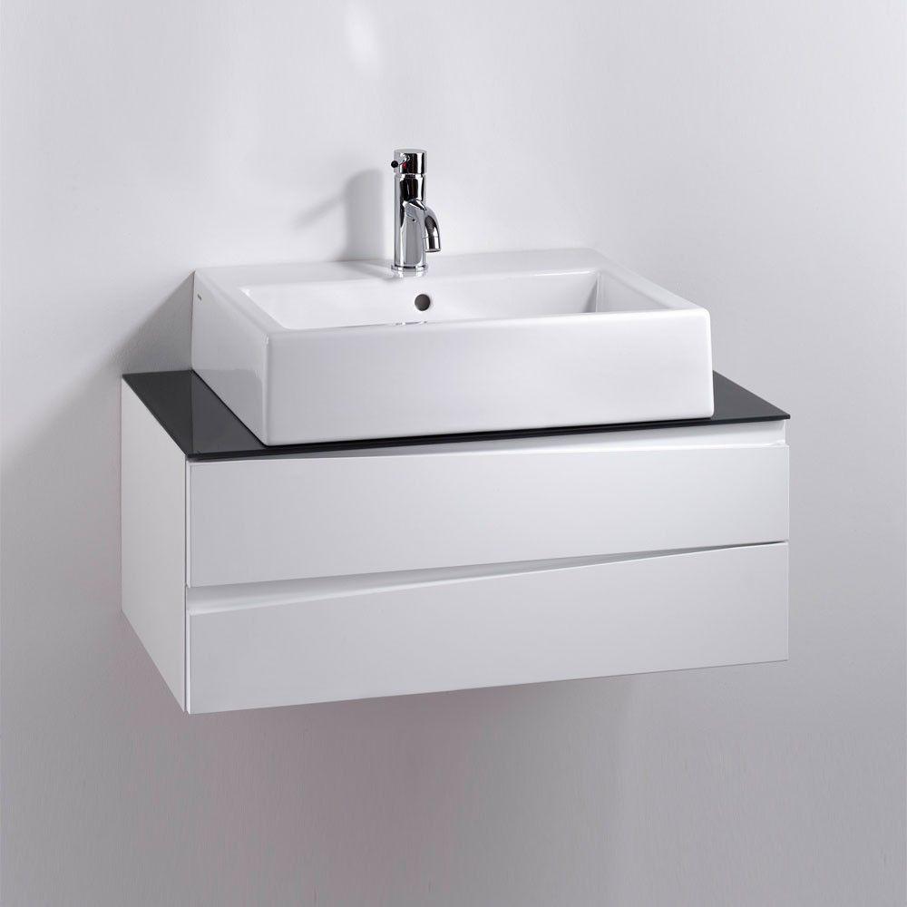 Waschtisch Gyrineva Mit Unterschrank In Weiss Grau Hochglanz Waschtischunterschrank Waschtisch Waschbecken