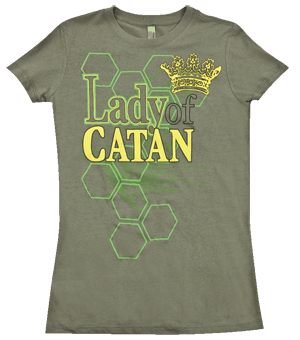 b0969346 Lady of Catan T-Shirt | Catan | Shirts, Settlers of catan, Mens tops