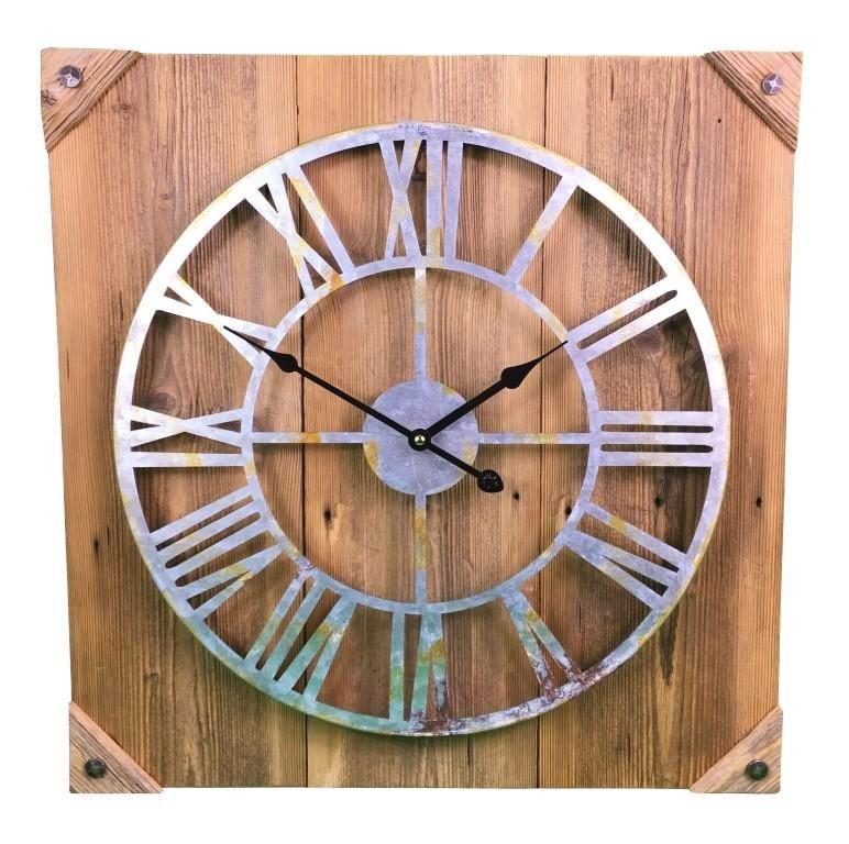 Uhr aus Holz Wanduhr aus Altholz IndustrieLook
