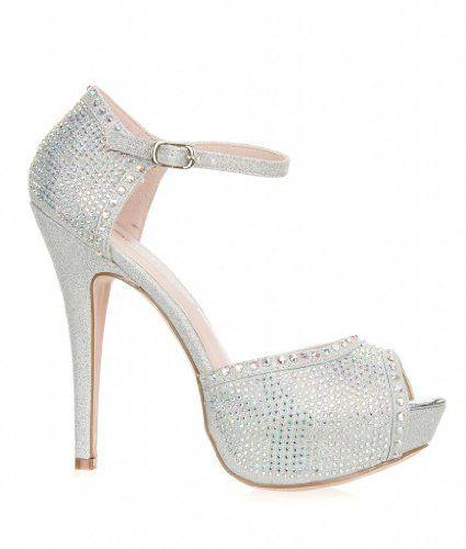 0b5e6c68d Bridal Formal Ankle Strap High Heel Platform Peep Toe Dress Bridal ...