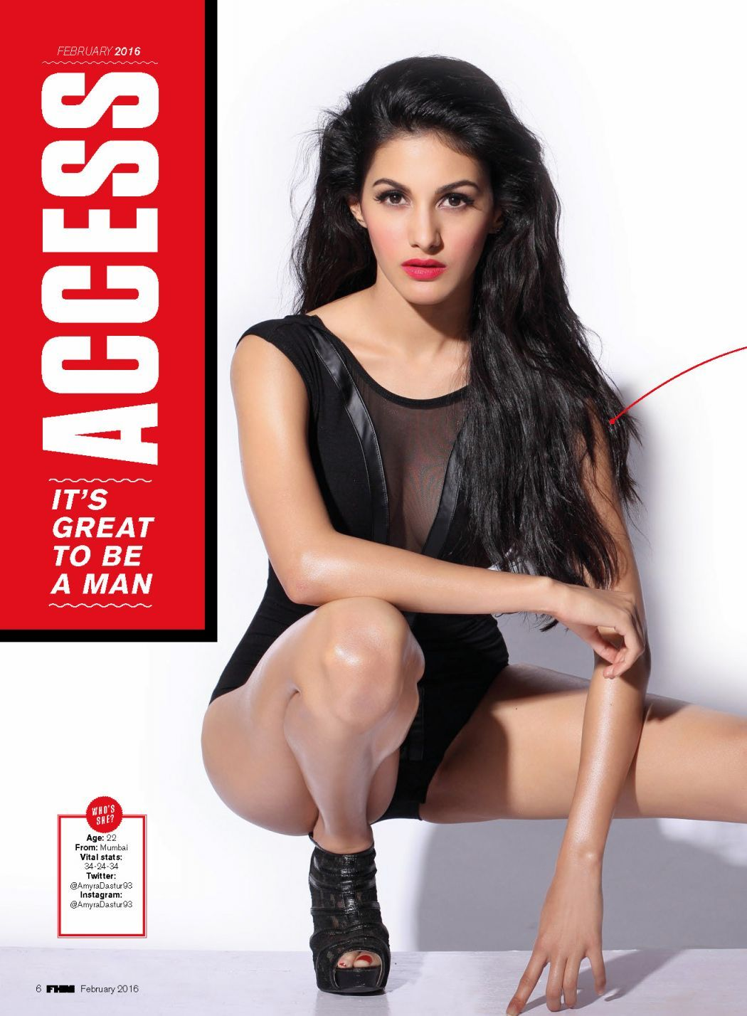 Amyra Dastur Hot Pictures From Fhm India Magazine February 2016