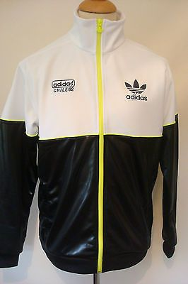 NEW RETRO ADIDAS SUPERSTAR BLACK WHITE JACKET CHILE 62 TOP TRACK TOP X-LARGE ab8fa74a2be0b