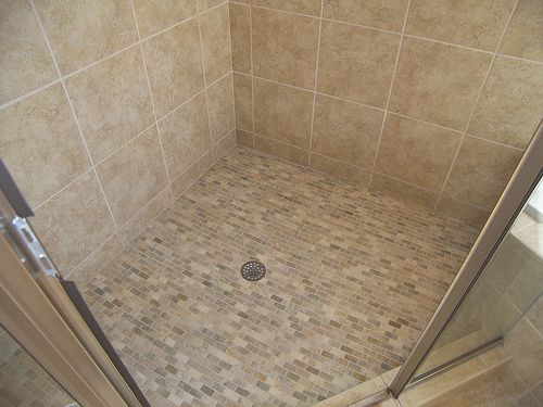 How To Tile A Shower Floor   Make Sure You Get The Angle Correct So It Will  Drain Without Leaving Puddles
